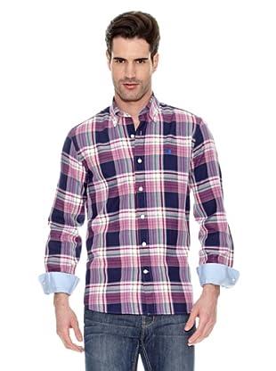 Toro Camisa Estampada (Rosa / Azul Marino)
