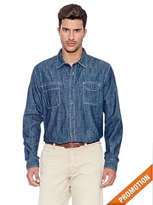 Dockers Camisa Chambray Deluxe (Índigo)