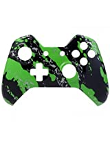 Xbox One Controller Green Black Splatter Front Shell
