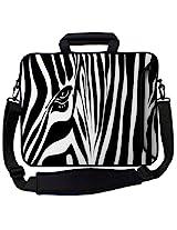 Designer Sleeves 13-Inch Zebra Eye Executive Laptop Bag (13ES-ZE)