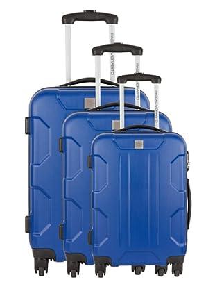 Pascal Morabito Set 3 Trolley 4 Ruedas Oxa (Azul)
