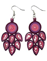 Designer's Collection Paper Quilling Ear Rings for Women-DSERB002_A