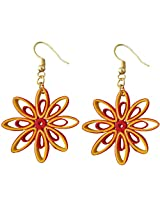 Designer's Collection Paper Quilling Ear Rings for Women-DSERB019