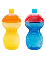 Munchkin Click Lock Bite Proof Sippy Cup, 9 Ounce, 2 Count (Yellow/Blue)