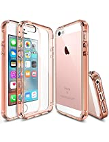 iPhone SE Case, Ringke [FUSION] Crystal Clear PC Back TPU Bumper [Drop Protection/Shock Absorption Technology] for Apple iPhone SE (2016) / 5S (2013) / 5 (2012) - Rose Gold Crystal