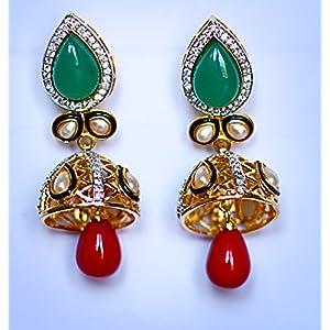 Gioielleria Fashion Pearl and Swaroski in kundan setting Earring