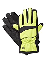Isotoner SmarTouch Women's Matrix Nylon ThermalFlex Lined Gloves, M/L, Lime Punch