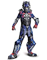 Disguise Hasbro Transformers Age of Extinction Movie Optimus Prime Prestige Boys Costume, Medium/7-8