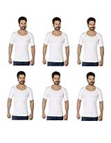 Rupa Frontline-RNS Premium Combo of 6 Men's Vest (Size-100)