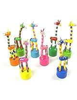 5 Pcs Swing Giraffes Wooden Childrens Finger Toys