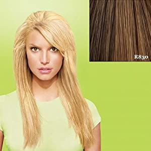 "hairdo from Jessica Simpson and Ken Paves 25"" Clip-In Extension, Layered Straight, Ginger Brown"