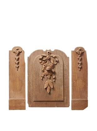 Set of 3 Vintage Carved Fragments