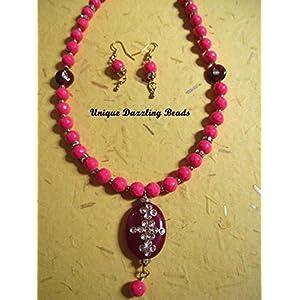 Unique Dazzling Beads Pretty Pink