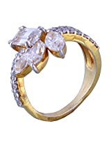 Amazing Jewel Golden Color Silver Ring For Girls