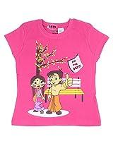 Chhota Bheem Girls T-Shirt (GGAPP-CB256D - Fushia_7-8 years)