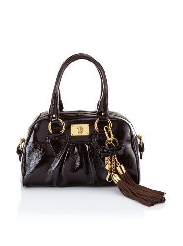Just Cavalli Women's Patent Leather Satchel (Brown)