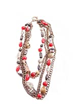 Harp Barbeque Multi-Colour Chain Necklace For Women