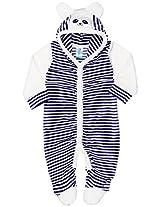 Snuggles Full Sleeve Hooded Vellour Sleepsuit