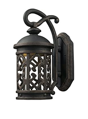Elk Lighting 42360/1 Tuscany Coast One Light Outdoor Sconce, Weathered Charcoal
