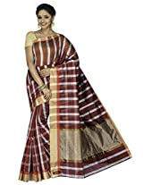 Korni Cotton Silk Banarasi Saree DS-1503- Red KR0457