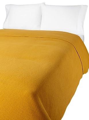 Coyuchi Basket Weave Blanket (Mustard)