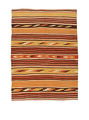 Design Community By Loomier Teppich Kilim Caucasico gelb/orange/rot 190 x 256 cm