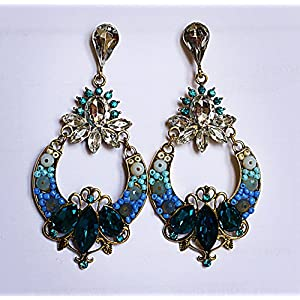 Gioielleria Fashion Turquoise color danglers Earring