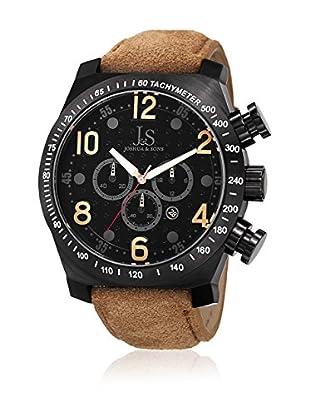 Joshua & Sons Reloj con movimiento cuarzo japonés Man JS-14-TN Marrón