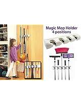 Magic Holder Broom & Mop Organizer Heavy Quality Mop & Broom Holder