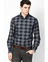 Checks Grey Casual Shirt
