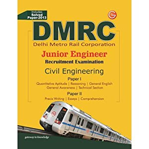 DMRC - Junior Engineer Recruitment Examination (Civil Engineering) : Includes Solved Paper - 2013 9th Edition