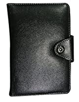 """Corcepts Designer Synthetic Leather Black Shaded with Stand Magnet Lock 7"""" Tablet Flip Cover Case with Stand Magnet Lock Spice Mi-740"""