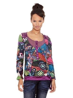 Desigual Camiseta Litlo (Púrpura y Vino)