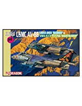 "1/144 Usmc Av-8b Vmat-203 Hawks + Vma-513 ""Flying Nightmares"" (Twin Pack)"