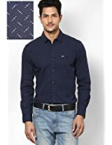 Navy Blue Casual Shirt Wrangler