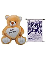 Just For You Teddy With Scroll Card