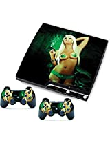 Sexy Cool Girl Skin Sticker For Ps3 Slim Console Controller Games Cover
