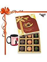 Scrumptious Collection Of Chocolates With Mug - Chocholik Belgium Chocolates
