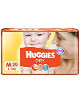Huggies Dry Diapers Medium Size (30 Count)