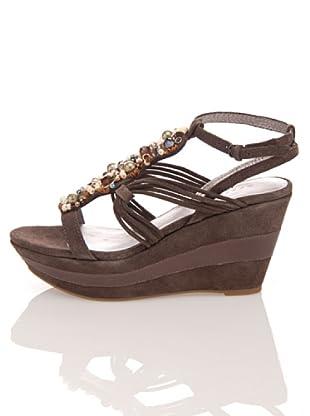 Apepazza Keil-Sandalette Panarea (Braun)