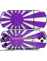 Sony PSP 3000 Decal Style Skin - Rising Sun Japanese Flag Purple