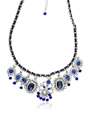 Cortefiel Collar Cristal Joya (Azul)