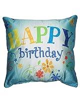 Twisha Happy Birthday Flower Pillow 12 X 12 X 4 Inch