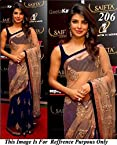 Priyanka Chopra in Cream Net Saree at Saifta Awards 2013