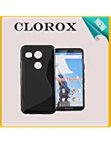 Clorox Tpu S Line Hybrid Back Cover For Lg Nexus 5X (Black)