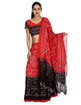 Rajrang Women Tie-Dye Lehenga Choli Red