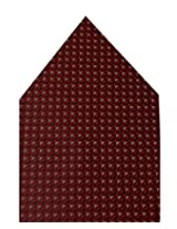 Navaksha Maroon Eye Style Pocket Square