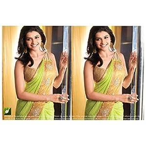 Designer Georgette Green Prachi Desai Party Wear Sari Saree Lehenga TM49