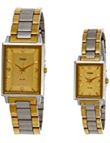 Timex Classics Analog Gold Dial Couple Watch - PR161