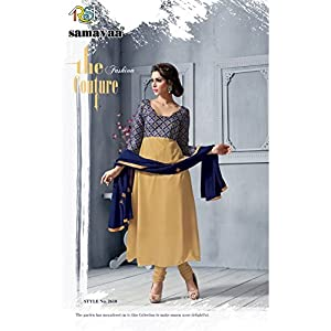 Evelyn Designer Salwar-Suit Set in Blue